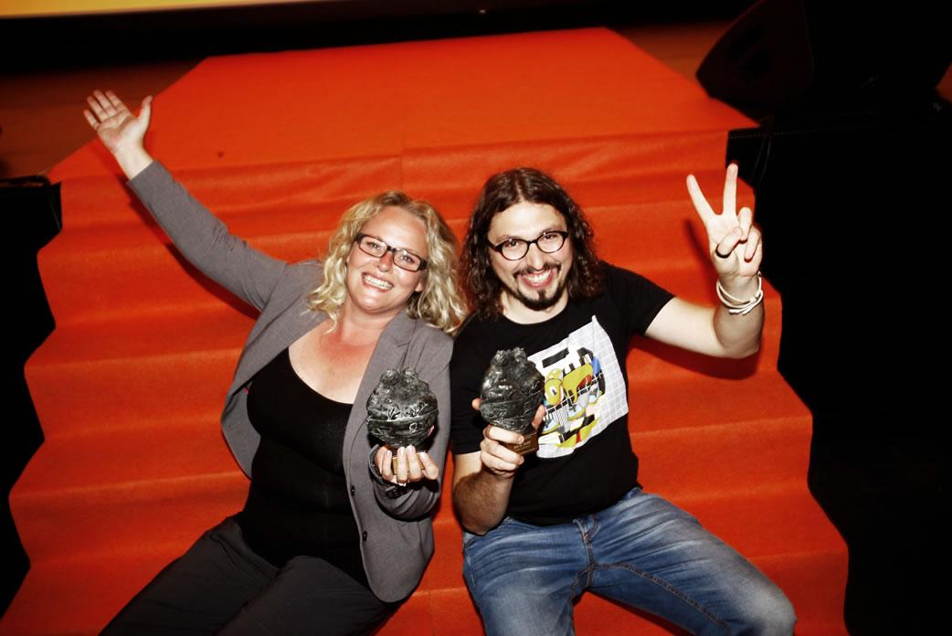Anne-Mieke Bovelett Ring and Svilen Dimitrov - first winner of the Børge Ring award