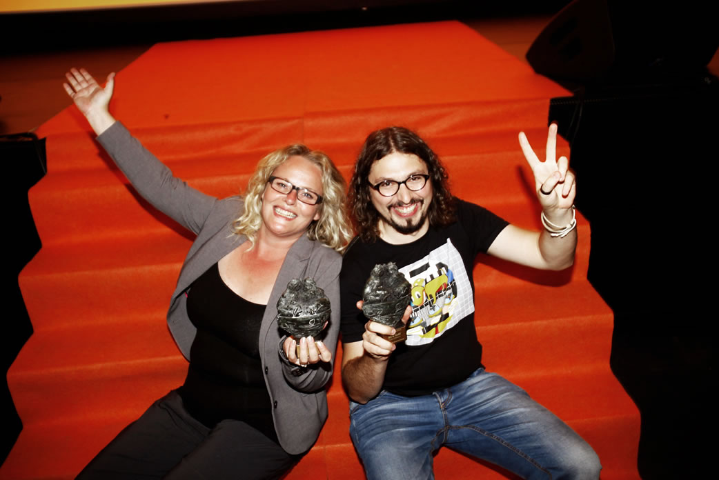 Anne-Mieke Bovelett Ring and Svilen Dimitrov - first winner of the Børge Ring award